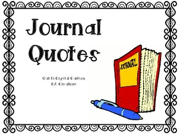 53 Famous Quotes for Journaling Warm-Ups and Bell Ringers