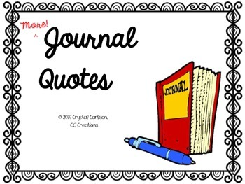 53 MORE Famous Quotes for Journaling Warm-Ups and Bell Ringers