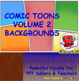530 Plus BACKGROUNDS BY COMIC TOONS VOLUME 2 for TPT Selle