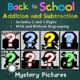 Back To School Color By Number Addition And Subtraction 2nd Grade Up Mystery Pic