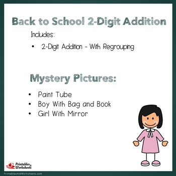 Back to School 2 Digit Addition With Regrouping