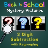 Math Fun Worksheets, Back To School Color By Number Subtraction With Regrouping