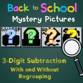 Back to School 3 Digit Subtraction