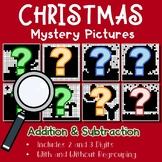 Christmas Addition & Subtraction Worksheet Holiday Christmas Math Coloring Pages