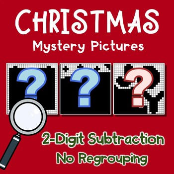Christmas 2 Digit Subtraction No Regrouping
