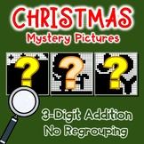 Christmas Addition Coloring Activities, Adding Three Digit No Regrouping Sheets
