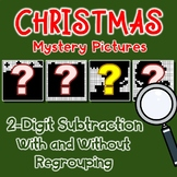 Christmas Subtraction Color By Number 2-Digit With And Without Regrouping