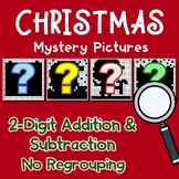Addition And Subtraction 2 Digit Christmas Coloring Math, No Regrouping