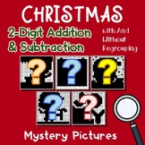 Hidden Pictures Christmas Adding And Subtracting Color By Number Worksheets