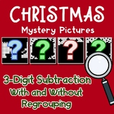Three Digit Subtraction Christmas Coloring Activity Pages Mystery Pictures