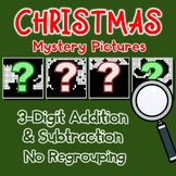 Christmas 3 Digit Addition And Subtraction No Regrouping Worksheets