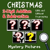 3 Digit Adding And Subtracting, Christmas Coloring Math Worksheets