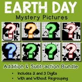 Fun Addition And Subtraction Worksheets Earth Day Math Coloring Pages