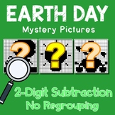 Earth Day Color By Number Subtraction Worksheets Double Digit Without Regrouping