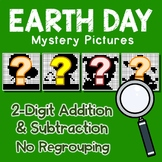 Earth Day 2 Digit Addition and Subtraction No Regroup