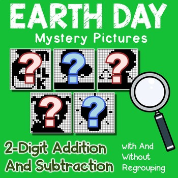 Earth Day 2 Digit Addition and Subtraction
