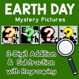 Earth Day Color By Number Addition And Subtraction 3 Digits With Regrouping