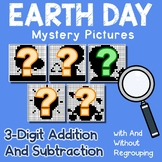 Earth Day 3 Digit Addition and Subtraction