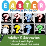 Fun Addition And Subtraction Worksheets Easter Math Coloring Pages