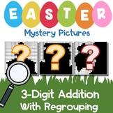 3rd Grade Math Easter 3-Digit Addition Coloring Sheet With Regrouping