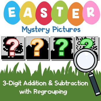 Easter 3 Digit Addition and Subtraction With Regroup