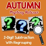 Subtraction Practice For Fall, Subtraction With Regrouping Of 2-Digit Numbers