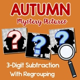 Fall Math Color By Code, Fall Subtracting Sheet 3-Digit With Regrouping Sheets