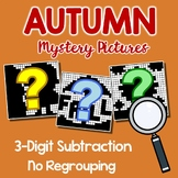 Subtraction Fall Color By Number Pages, Math Coloring Sheets For Fall