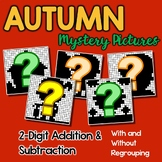 Math Fact Coloring Fall Double Digit Addition And Subtraction Mystery Pictures