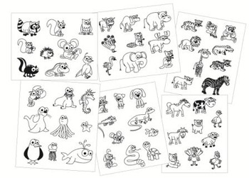 Animal Clip Art - 55 black and white images!