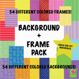 54 Background + Frame Bundle! Great for TPT Materials! All
