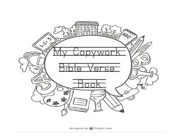 54 Bible Verse Tracing Copywork Handwriting Practice