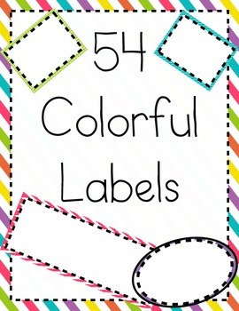 54 Colorful Classroom Labels