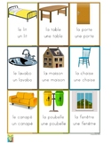 54 Flashcards of objects in the house in French