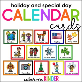 57 Holiday & Special Days Calendar Cards