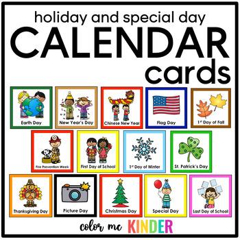 57 Holiday & Special Days Calendar Cards