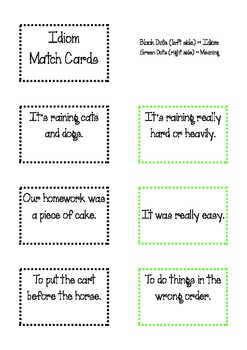 54 Idiom Match Cards