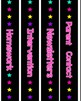 54 Neon Theme Binder Covers or Dividers & Spine Labels - Bright Stars + Editable