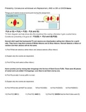 54 Probability Exercises: Withdrawal, AND vs OR vs GIVEN,