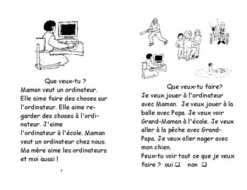 54) Que veux-tu faire? - livret de lecture ENFANT C1 1ère-2e
