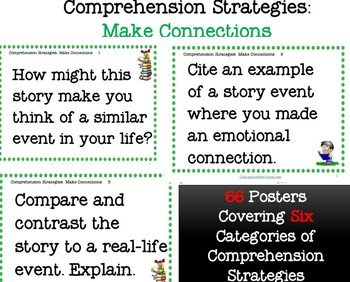 66 COMPREHENSION STRATEGIES QUESTION POSTERS AND TASK CARDS