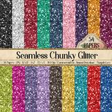 "54 Seamless Glitter Backgrounds 12""x12"" 5""x7"" 8.5""x11"" Printable"