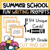 54 Summer School Writing Prompts Journal Task Cards Fun  1