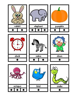 54 Syllable Cards