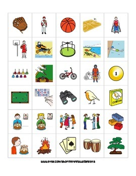 570 LEISURE ACTIVITY PECS PICTURE CARDS autism speech therapy aba printable pdf
