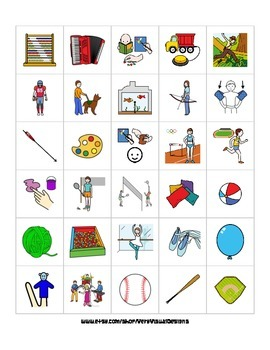 570 Leisure Activity Pecs Picture Cards Autism Speech