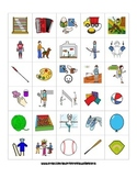 570 LEISURE ACTIVITY PECS PICTURE CARDS autism speech ther