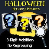 Halloween Addition Coloring Activities, Adding Three Digit No Regrouping Sheets