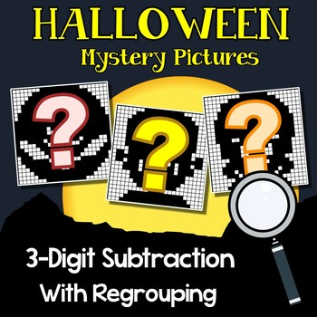 Halloween 3 Digit Subtraction With Regrouping