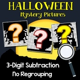 Halloween Color By Number 3 Digit Subtraction Coloring Worksheets No Regrouping